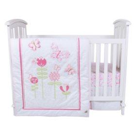 Trend Lab 6-Piece Crib Bedding Set, Floral Fun