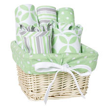 Trend Lab 7-Piece Feeding Basket Gift Set (Choose Your Style)