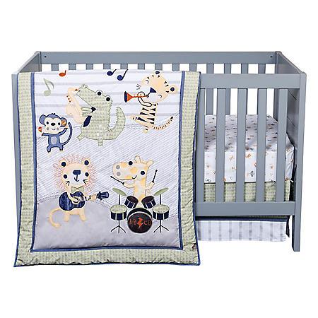 Trend Lab 6-Piece Crib Bedding Set, Safari Rock Band