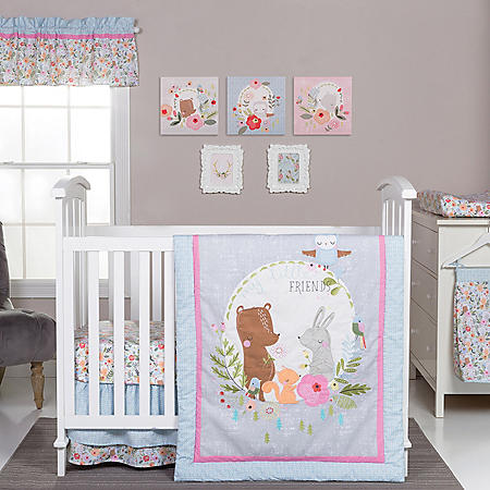Trend Lab 6-Piece Crib Bedding Set, My Little Friends