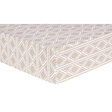 Trend Lab Fitted Crib Sheet, Deer Lodge Aztec