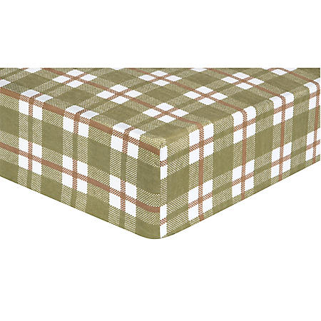 Trend Lab Fitted Crib Sheet, Deer Lodge Plaid Flannel