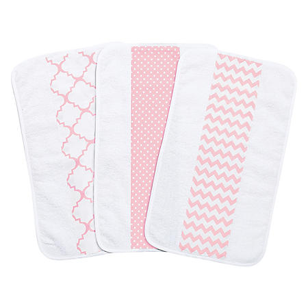 Trend Lab 3-Pack Jumbo Burp Cloth Set (Choose your Color)