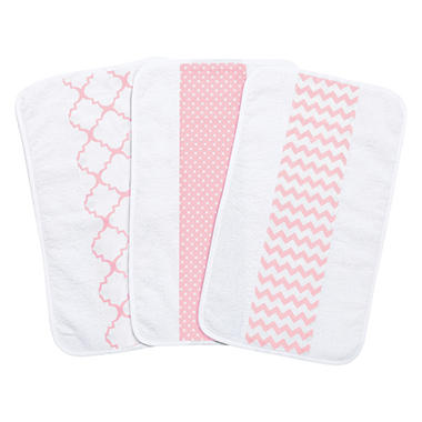Trend Lab 3-Pack Jumbo Burp Cloth Set (Choose your Color)