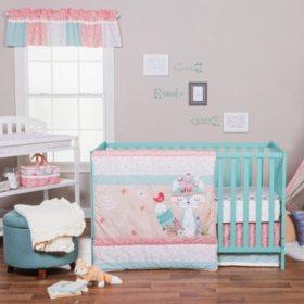 Trend Lab 3-Piece Crib Bedding Set, Wild Forever