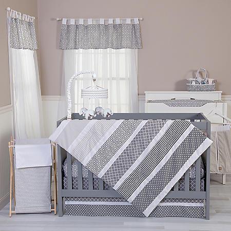 Trend Lab 5-Piece Bedding Set, Ombre Gray
