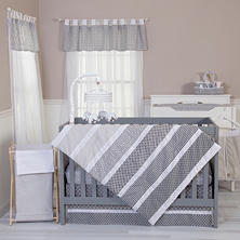 Trend Lab 5-Piece Bedding Set, Ombre Gray