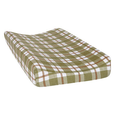 Trend Lab Deluxe Flannel Changing Pad Cover, Green Plaid
