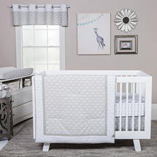 Trend Lab 3-Piece Crib Bedding Set, Art Deco