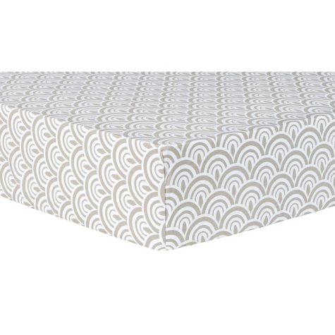 Trend Lab Fitted Crib Sheet, Art Deco Scallop