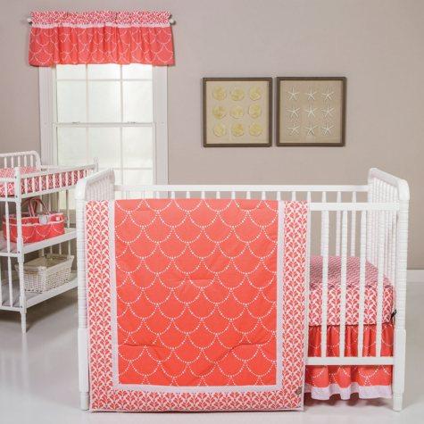 Trend Lab 3-Piece Crib Bedding Set, Shell