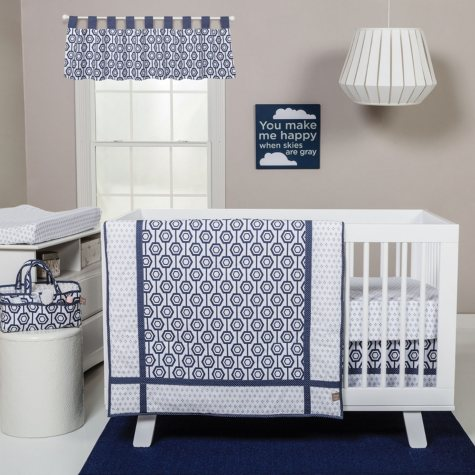 Trend Lab 3-Piece Crib Bedding Set, Hexagon
