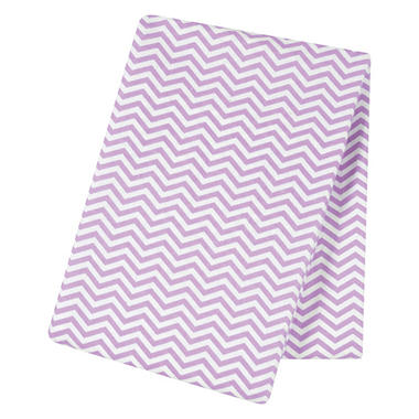Trend Lab Jumbo Deluxe Flannel Swaddle Blanket, Lilac Chevron
