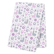 Trend Lab Jumbo Deluxe Flannel Swaddle Blanket, Llama Friends