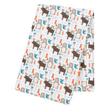 Trend Lab Jumbo Deluxe Flannel Swaddle Blanket, Scandi Forest