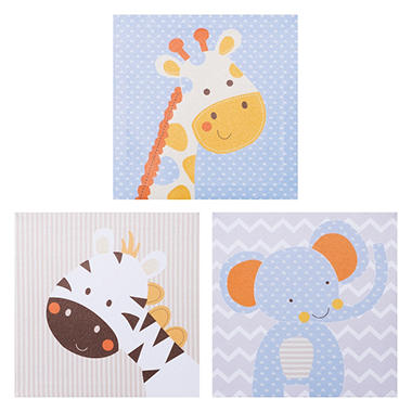 Trend Lab Canvas Wall Art, Jungle Fun (3 pk.)