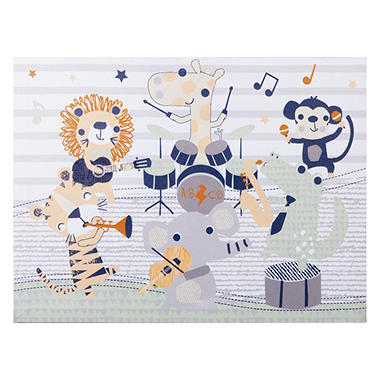 Trend Lab Canvas Wall Art, Safari Rock Band