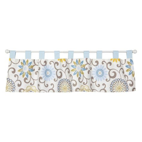 Waverly Baby by Trend Lab Window Valance, Pom Pom Spa