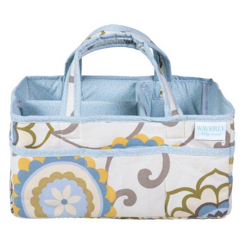 Waverly Baby by Trend Lab Diaper Caddy, Pom Pom Spa