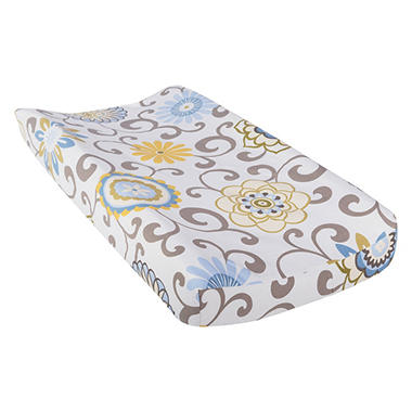 Waverly Baby by Trend Lab Changing Pad Cover, Pom Pom Spa