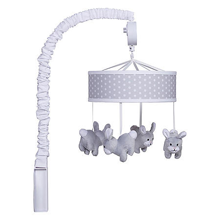"Trend Lab Gray Bunny Musical Mobile (15"" x 24"")"