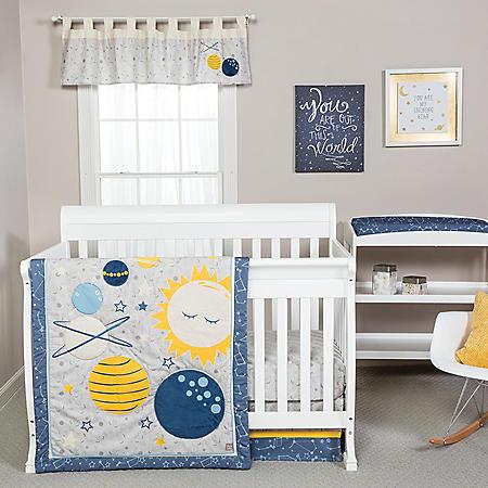 Trend Lab 4-Piece Crib Bedding Set, Galaxy