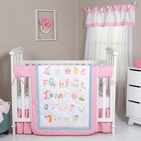 Trend Lab 5-Piece Crib Bedding Set, Alphabet Cake