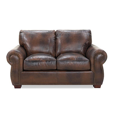Kingston Leather Loveseat