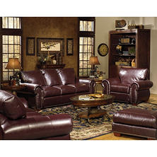 Franklin 3-Piece Leather Living Room Set