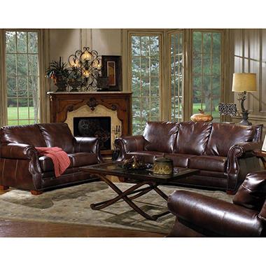 Quest Furniture Julien 3-Piece Leather Living Room Set - Sam'S Club