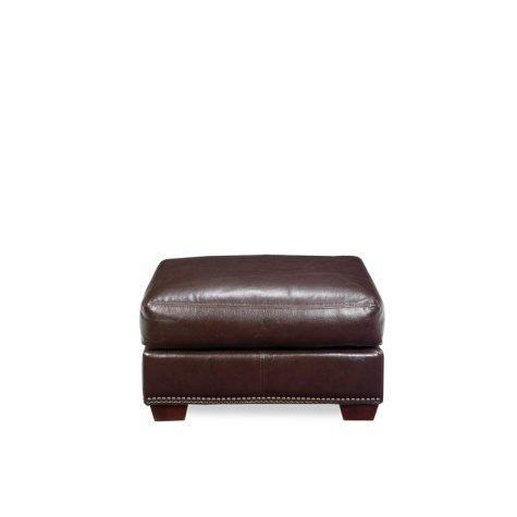 Franklin Leather Ottoman