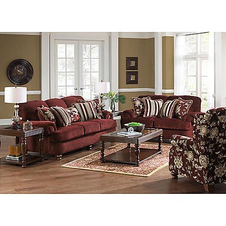Olivia Living Room 3-Piece Furniture Set