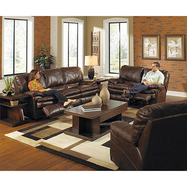 room awesome piece leather of reclining sectionals lenoris etc coffee set sets living power sofas
