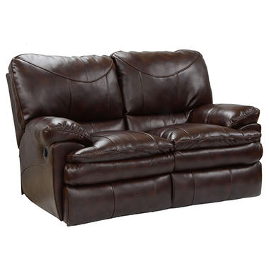 Hope Park Leather Reclining Loveseat