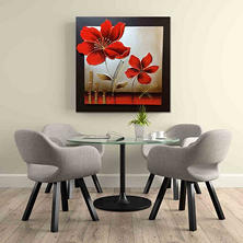 Canvas Oil Painting - 3D Effect Enamel Flower