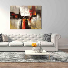 Canvas Oil Painting - Hand-Painted Abstract #3