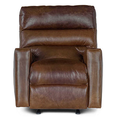 Restoration Vintage Full-Grain Leather Craftsman Power Recliner Chair