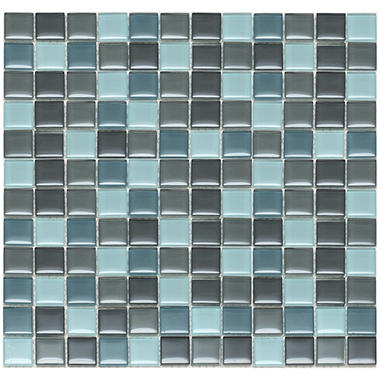 Mixed Gray Mosaic Glass Tile - 6 - 12