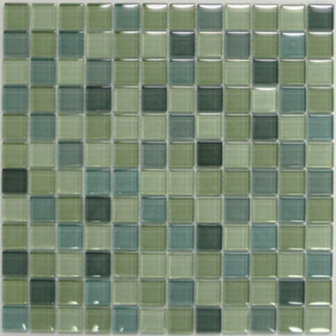 Light Green Mosaic Glass Tile (6) 12