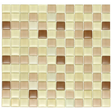 Light Brown Mosaic Glass Tile - 6 - 12