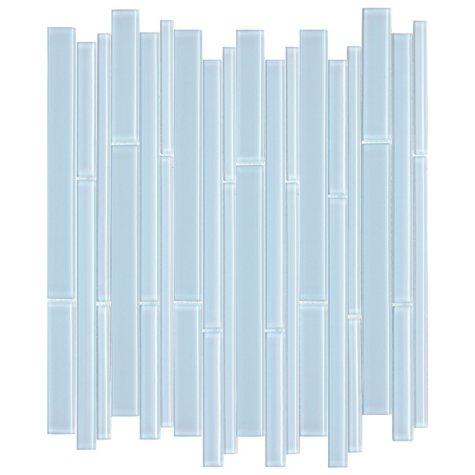 "Blue Bamboo Mosaic Glass Tile - 6 - 12"" x 12"" Sheets"
