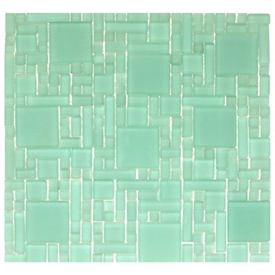 Frosted Green Mosaic Glass Tile 6 12 x 12 Sheets Sams Club