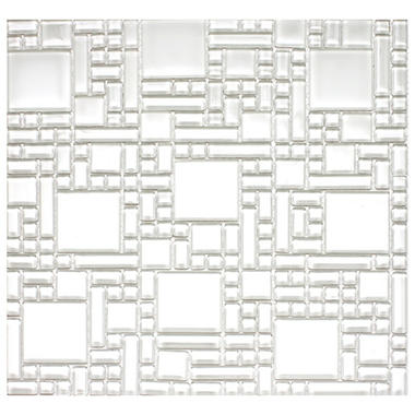 White Pattern Mosaic Glass Tile - 6 - 12