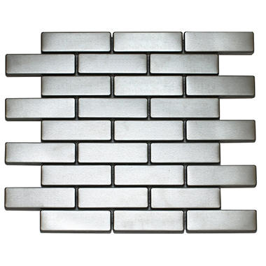 Large Rectangle Stainless Tile - 6 - 12