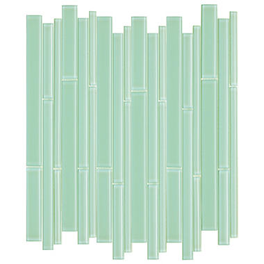 Green Bamboo Mosaic Glass Tile - Sample