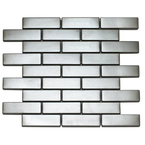 Large Rectangle Stainless Tile - Sample