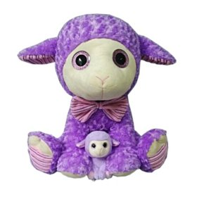 Eye-enormous Plush Animal with Baby, Assorted Styles