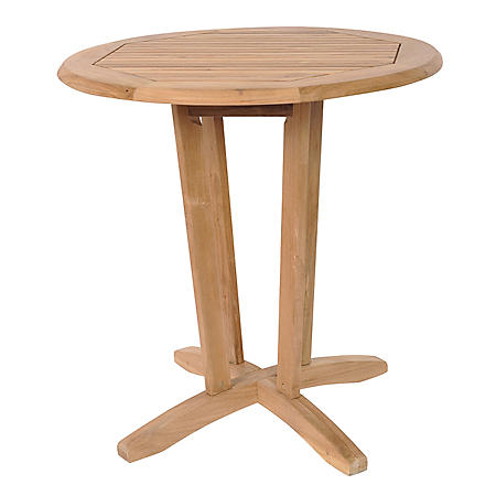 Entella Teak Round Patio Bistro Table