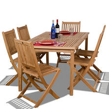 Cittadella Teak Rectangular Patio Dining Set (7 pcs.)