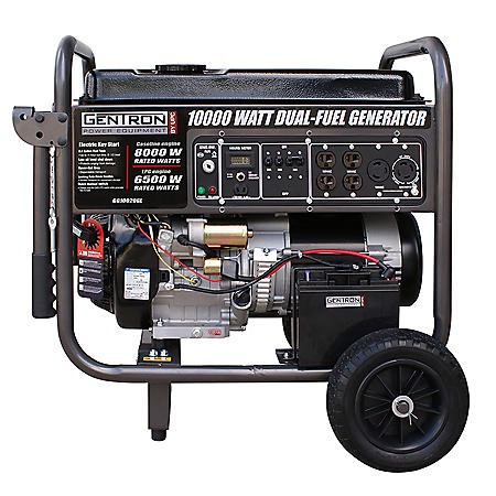 Gentron 10,000-Watt Dual Propane and Gasoline Powered Portable Generator
